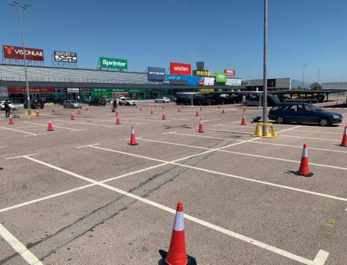 El centro comercial Portal Mediterráneo garantiza los dos metros de seguridad en el parquing