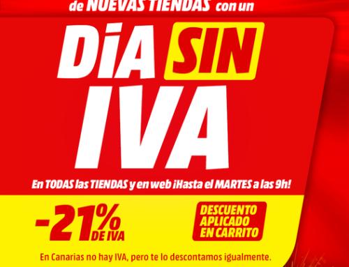 Mañana lunes 26 de abril Día sin IVA MediaMarkt